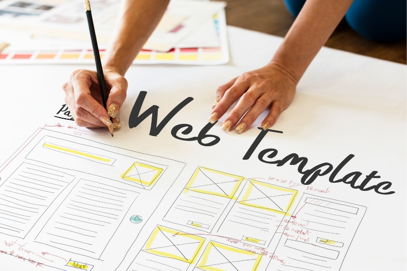 web builder template