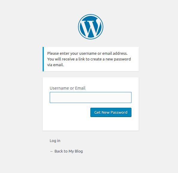 reset WordPress login