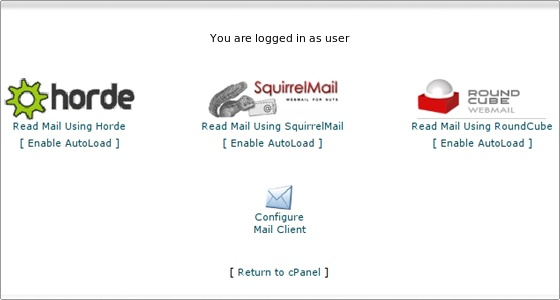Horde roundcube and squirrelmail