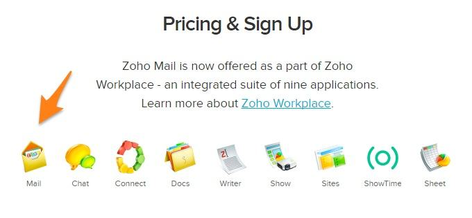 Zoho Pricing and Signup
