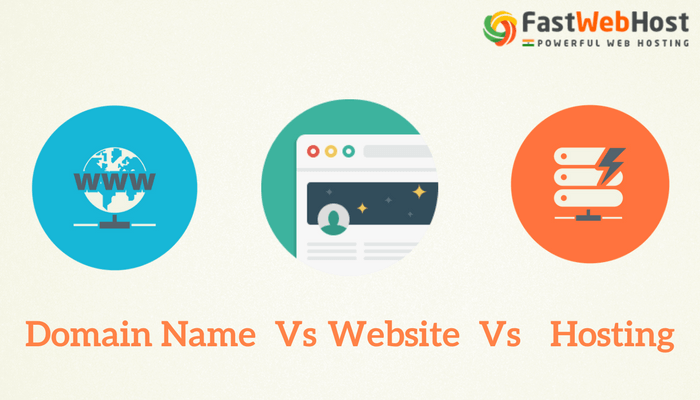 Domain Name vs Website vs Web Hosting