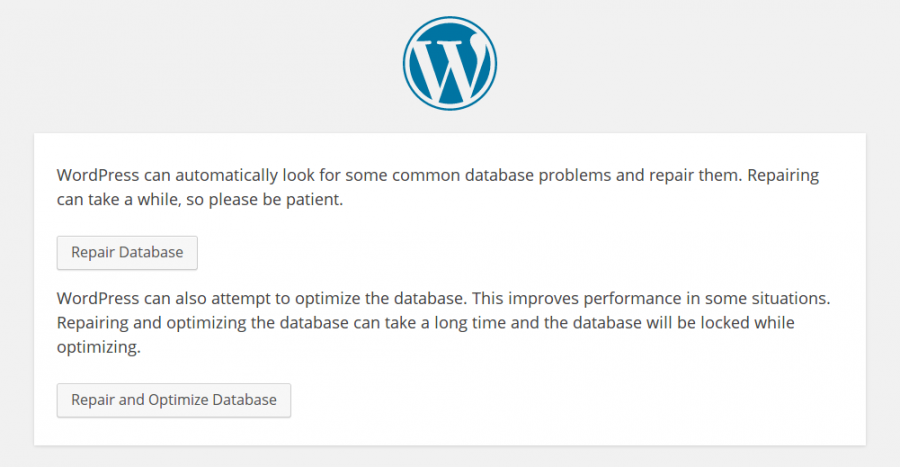 WordPress Database Repair