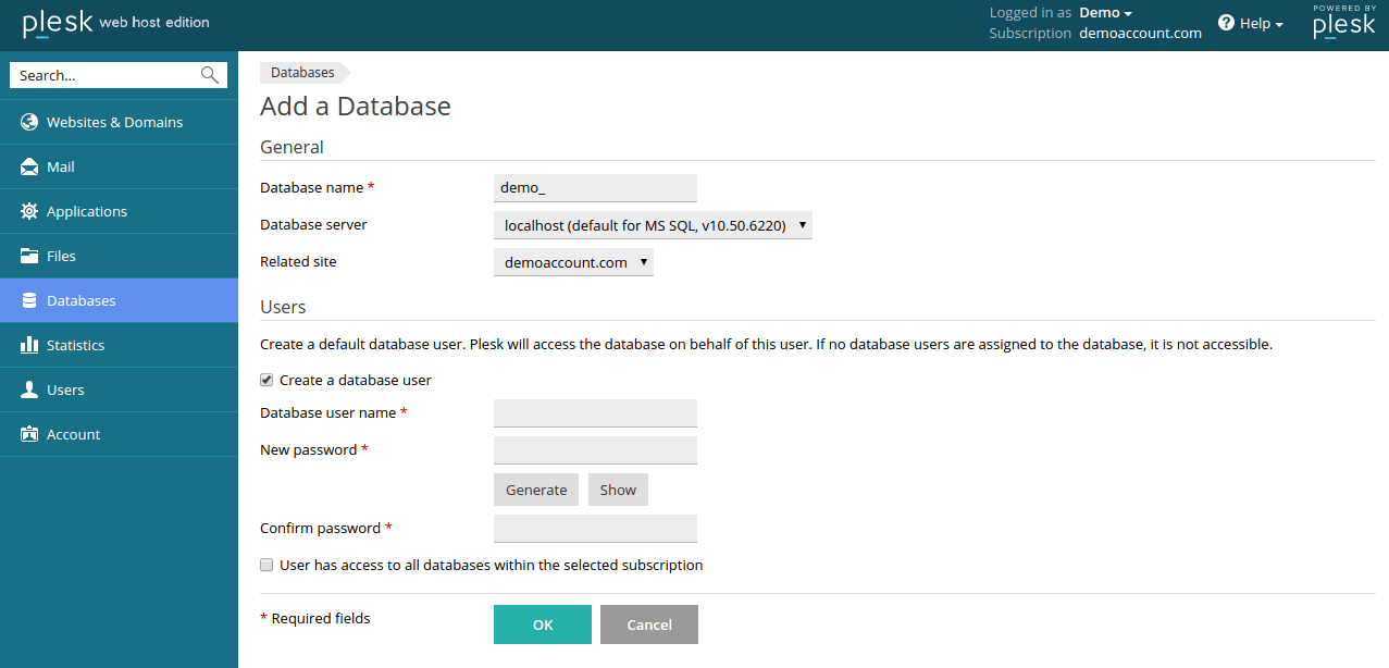 Adding_Dataabase_to_PleskPanel