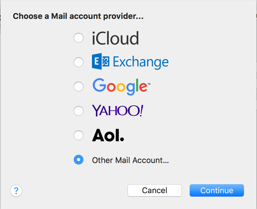 Mac Other Email Accounts