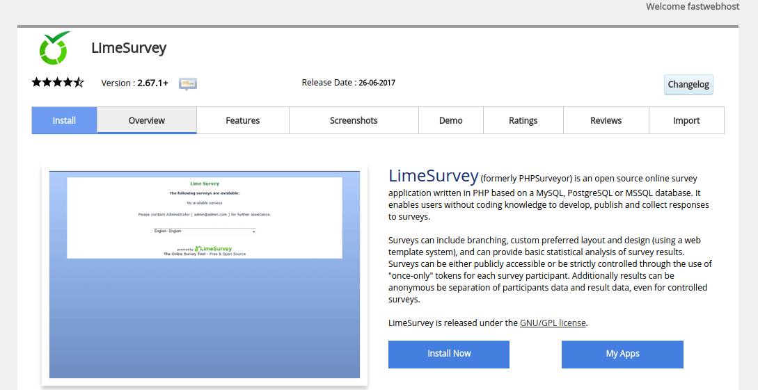 Install-LimeSurvey-Dashboard