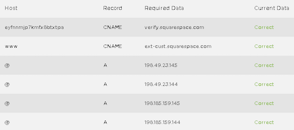 how to connect a netfirms domain to squarespace